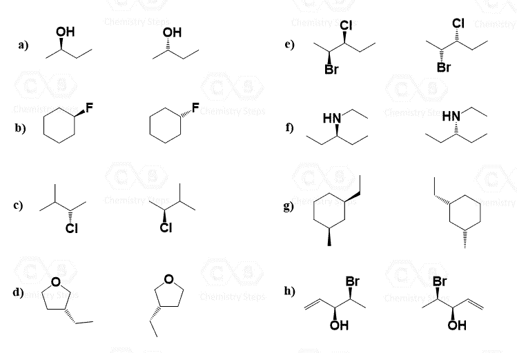 The R and S Configuration Practice Problems - Chemistry Steps