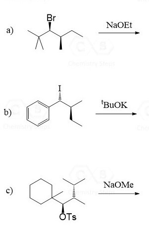 Stereospecificity of E2 Reactions