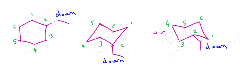 Drawing The Chair Conformation Of Cyclohexane Chemistry Steps