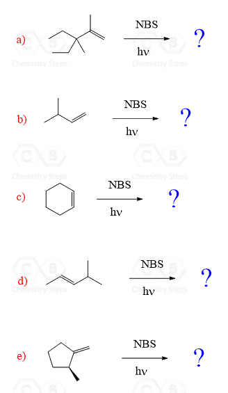Allylic Bromination By Nbs With Practice Problems Chemistry Steps