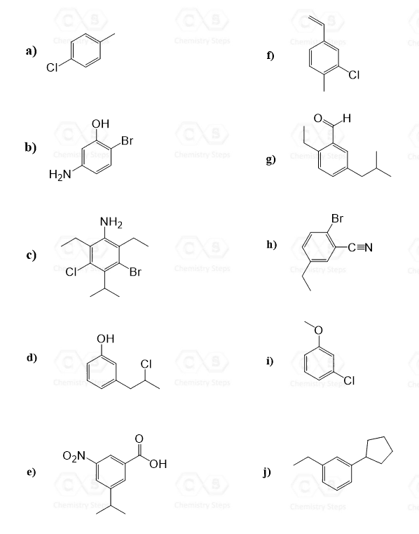 Naming Aromatic Pounds Chemistry Steps. Worksheet. Naming Alcohols Worksheet At Clickcart.co