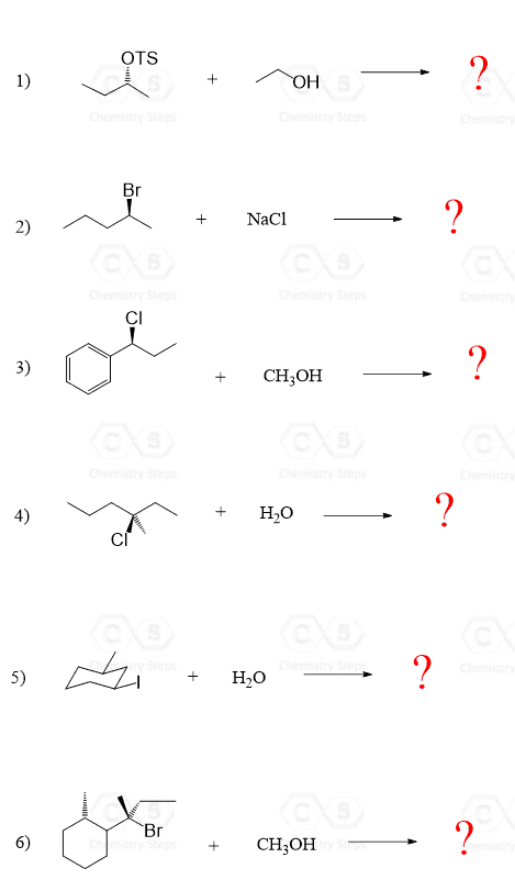 The Sn1 Mechanism  Energy Diagram  Stereochemistry With
