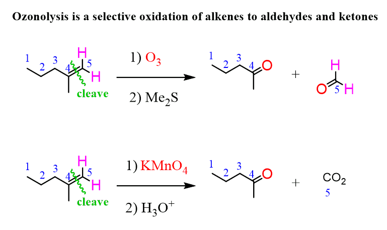 Ozonolysis of Alkenes with Practice Problems - Chemistry Steps